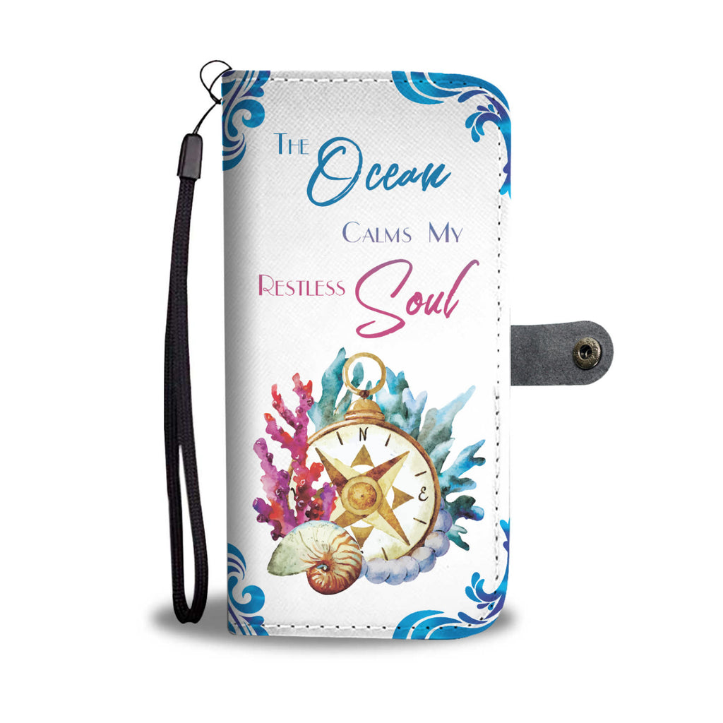 Ocean Soul Wallet Phone Case - FREE Shipping