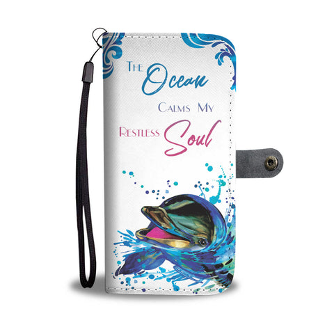 Dolphin Wallet Phone Case - FREE Shipping
