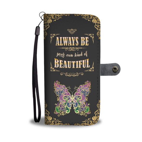 Butterfly Gold Beautiful Wallet Phone Case - Free Shipping