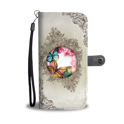 Butterfly Garden Wallet Phone Case - Free Shipping