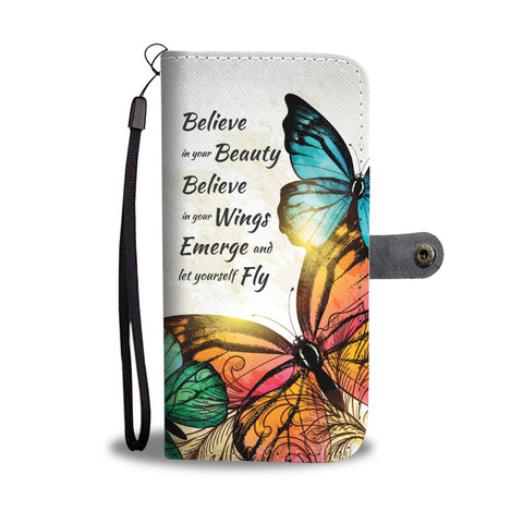 Butterfly Summer Wallet Phone Case - Free Shipping