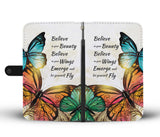 Butterfly Summer BK Wallet Phone Case - Free Shipping