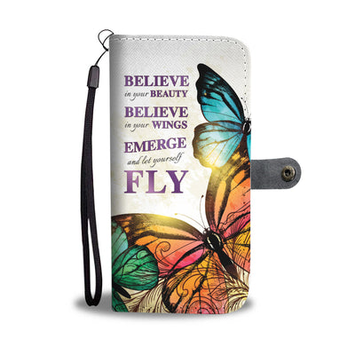 BUTTERFLY SUMMER WALLET PHONE CASE /P - FREE SHIPPING