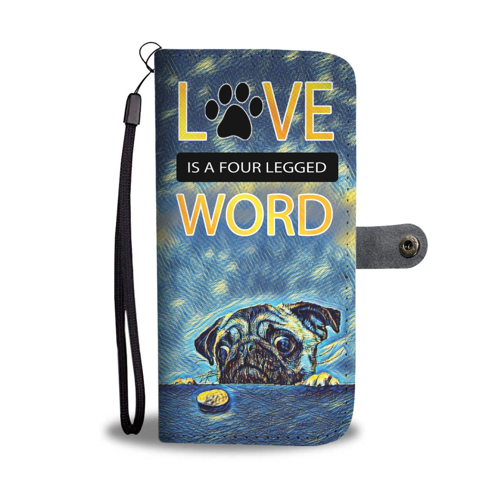 Pug Art Starry Night Wallet Case - FREE SHIPPING