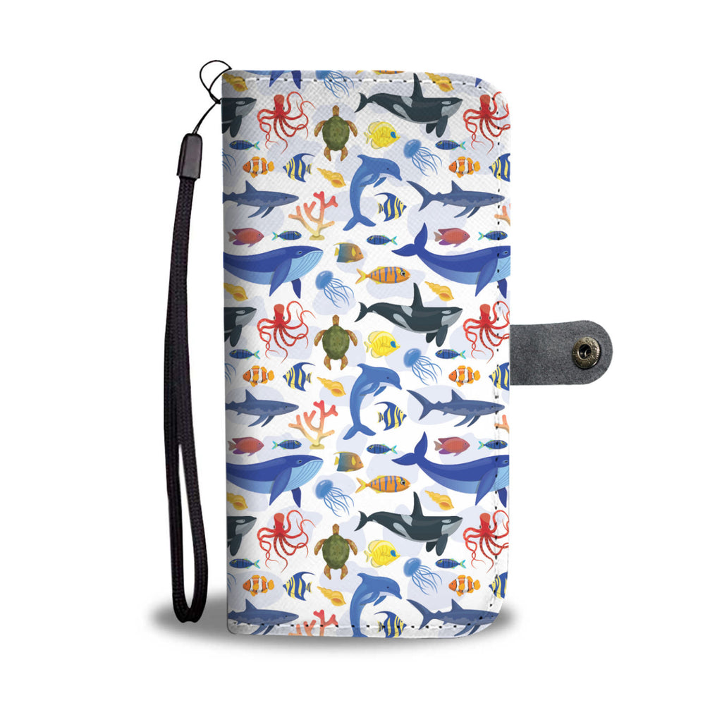 Ocean Animals Wallet Phone Case - FREE SHIPPING