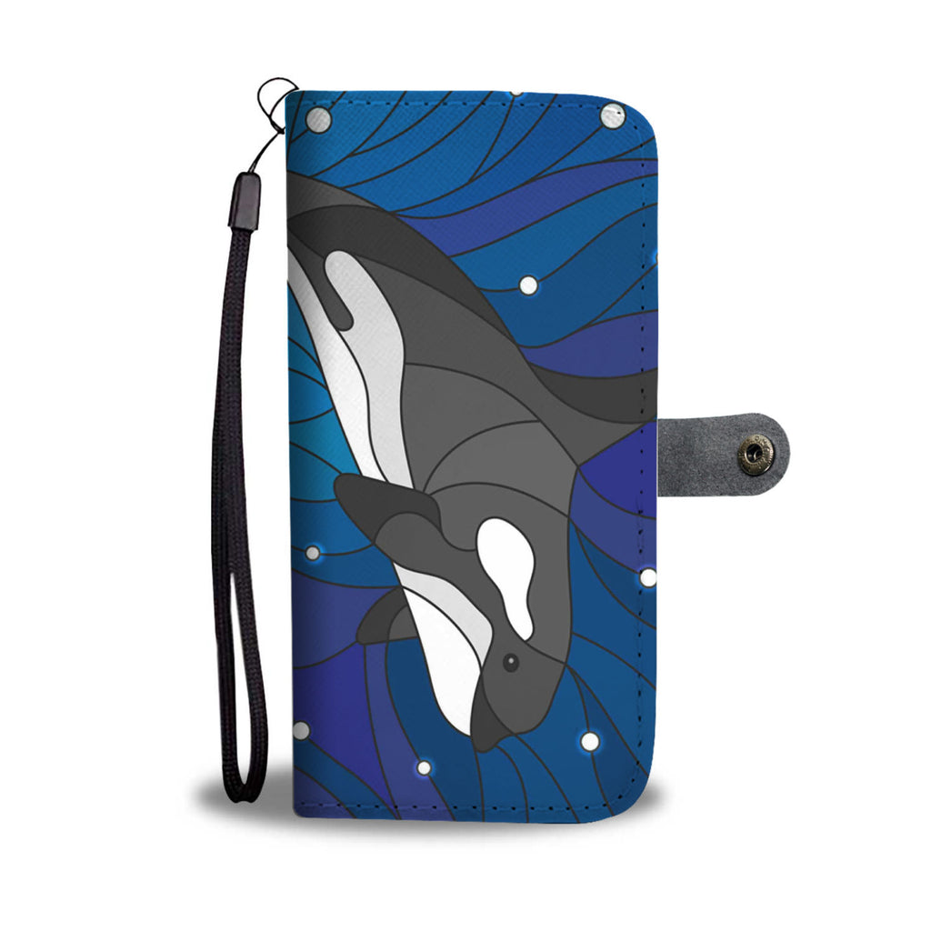 Whale In the Deep Pattern Wallet Phone Case - FREE SHIPPING
