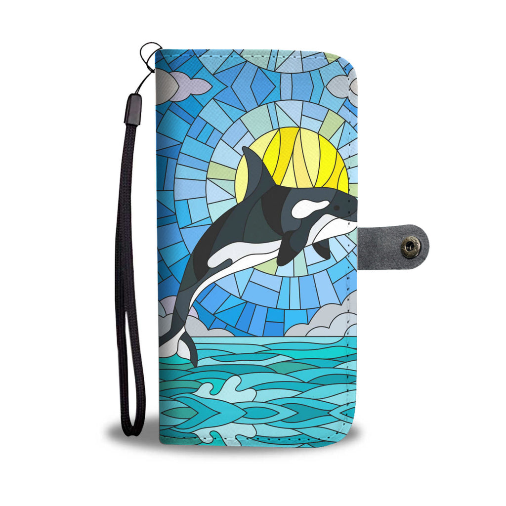 Whale Sunrise Pattern Wallet Phone Case - FREE SHIPPING
