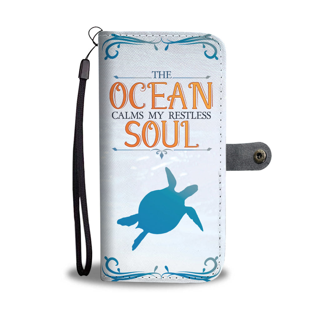 Turtle Ocean Soul Wallet Phone Case - FREE SHIPPING