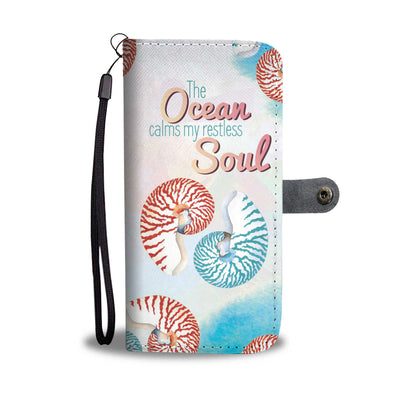 Colorful Shell Ocean Soul Wallet Phone Case - FREE SHIPPING