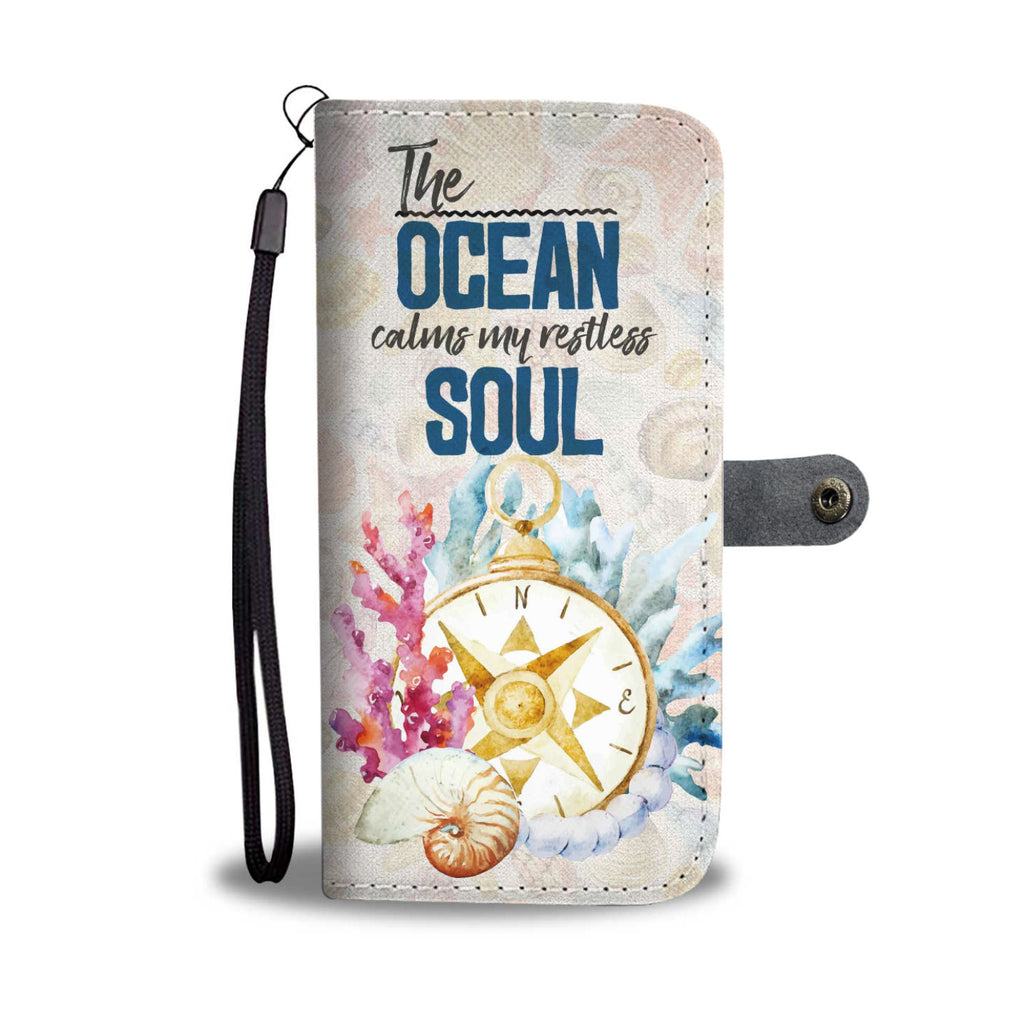 Ocean Soul Compass Shells Wallet Phone Case - FREE SHIPPING