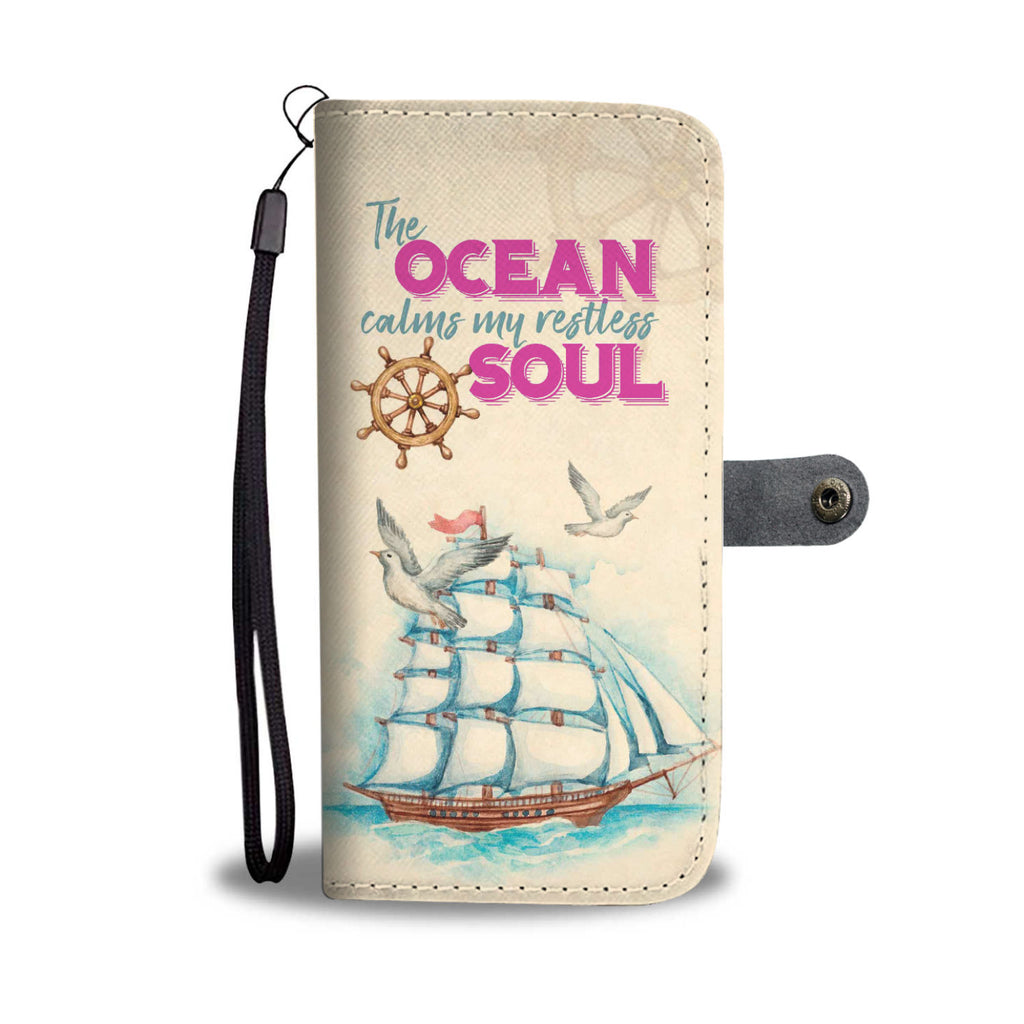 Ocean Soul Sailing Wallet Phone Case - FREE SHIPPING