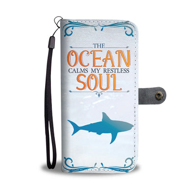 Shark Ocean Soul Wallet Phone Case - FREE SHIPPING