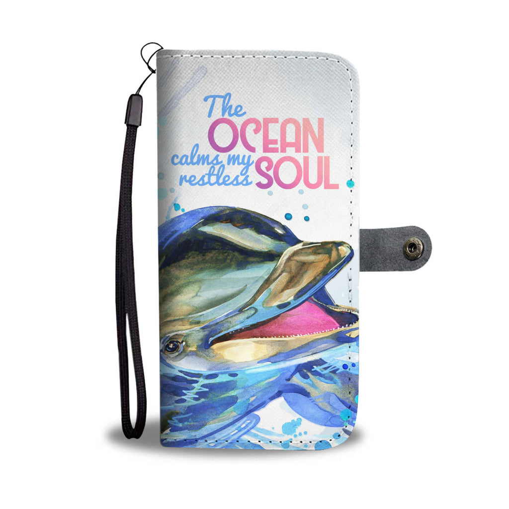 Dolphin Ocean Soul Full Wallet Phone Case - FREE SHIPPING