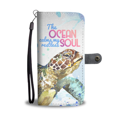 Turtle Ocean Soul Full Wallet Phone Case - FREE SHIPPING