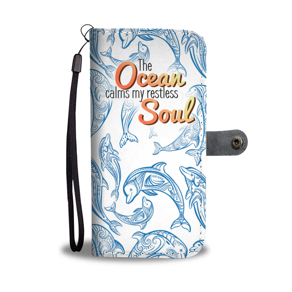 Blue Dolphin Ocean Soul Wallet Phone Case - FREE SHIPPING