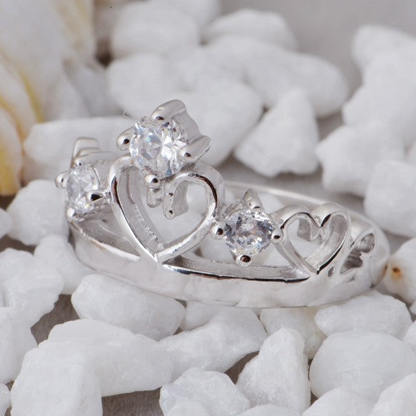 Tiara Heart Promise Ring - FREE Shipping