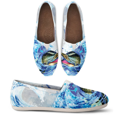Dolphin Watercolor Casual Shoes - FREE SHIPPING