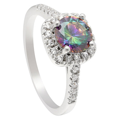 Square Rainbow Ring - FREE Shipping