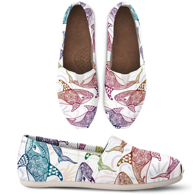 Rainbow Whale Casual Shoes - FREE SHIPPING