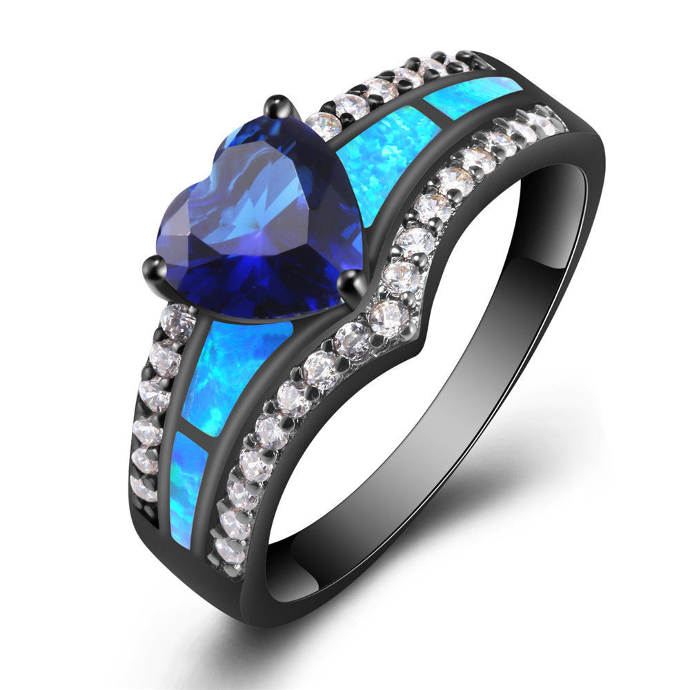 Queen Crystal and Opal Ring - FREE Shipping