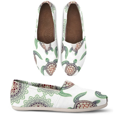 Turtle Pattern Green Casual Shoes - FREE SHIPPING