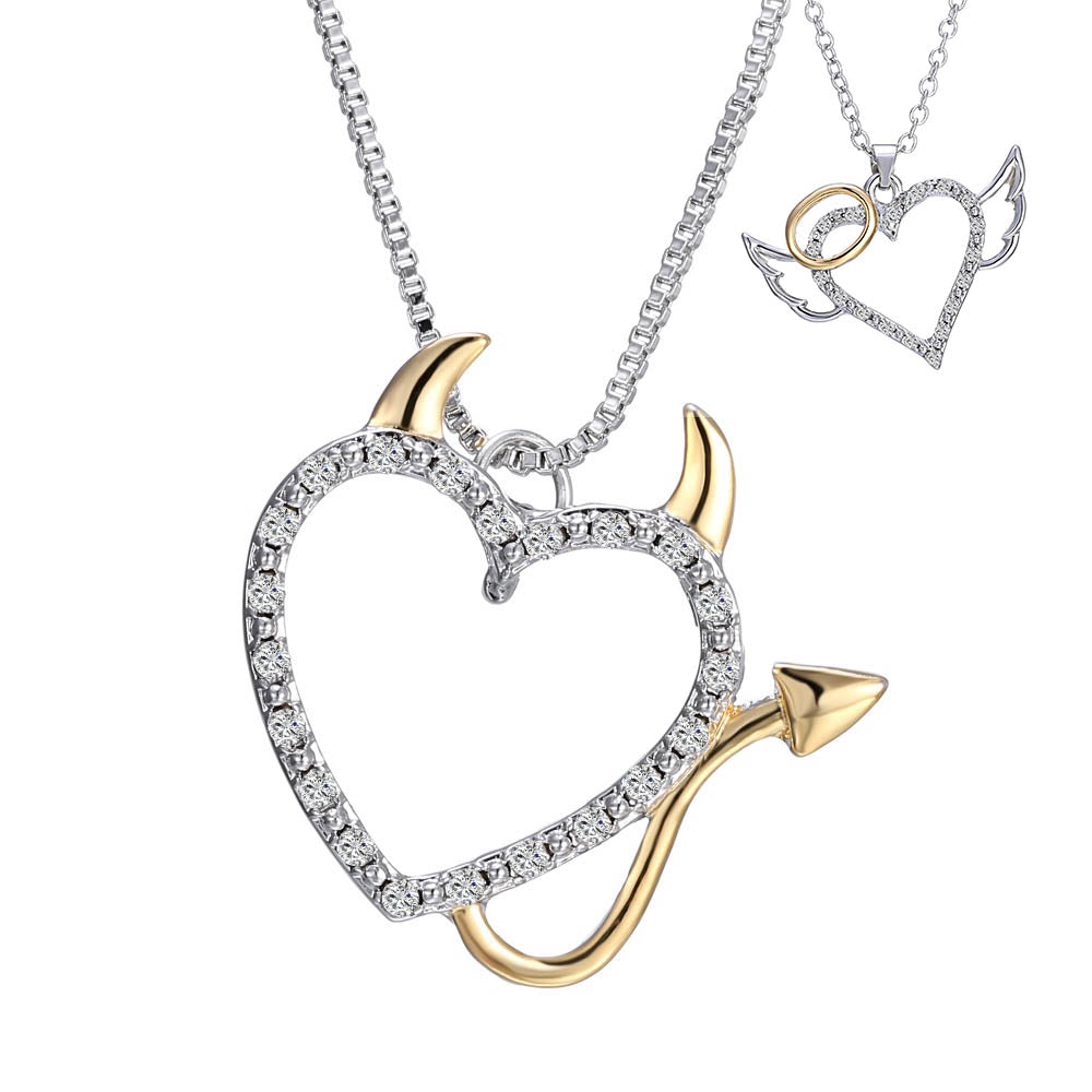 50% OFF - Devil/Angel Heart Necklace + Free Shipping!