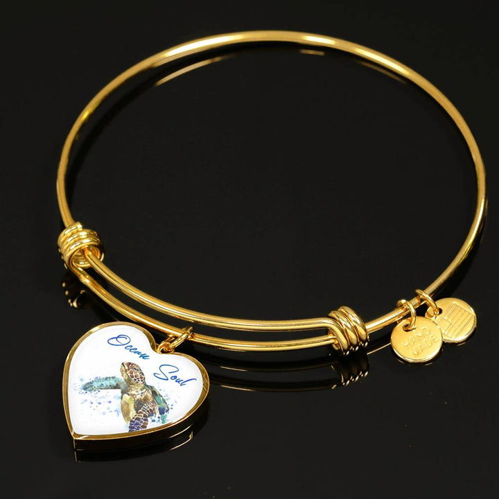 Turtle Heart Pendant and Bangle - FREE SHIPPING