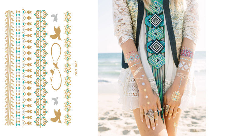 Temporary Foil Tattoos - FREE Shipping
