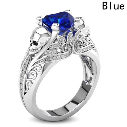 Heart Skull Ring - FREE Shipping
