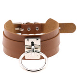 Leather Choker Necklace - FREE Shipping