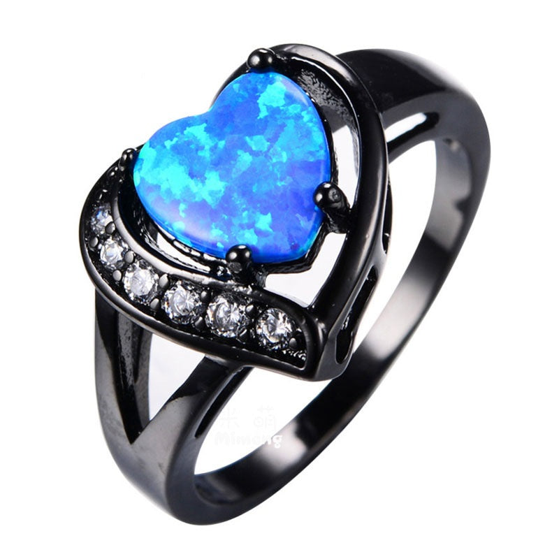 75% OFF - Opal Heart Ring - Plus FREE Shipping