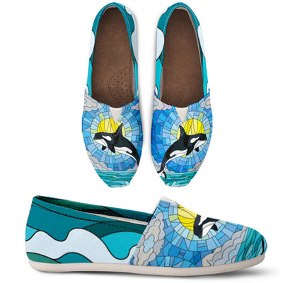 Whale Sunrise Pattern Casual Shoes - FREE SHIPPING