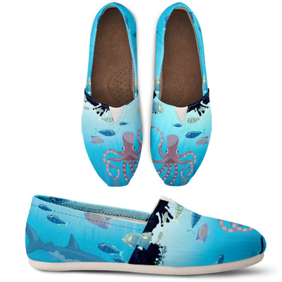 Blue Under The Sea Casual Shoes - FREE SHIPPING
