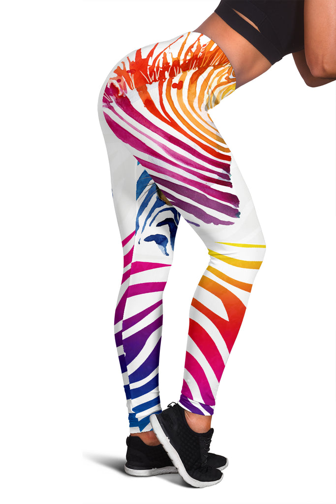 Rainbow Zebra Leggings - FREE SHIPPING