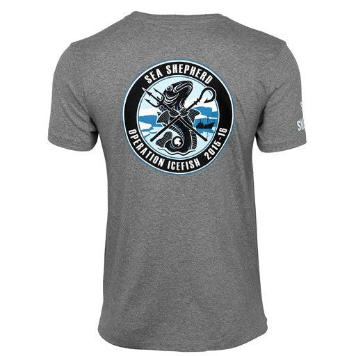 Operation Icefish 100% Organic Cotton Tee - Grey