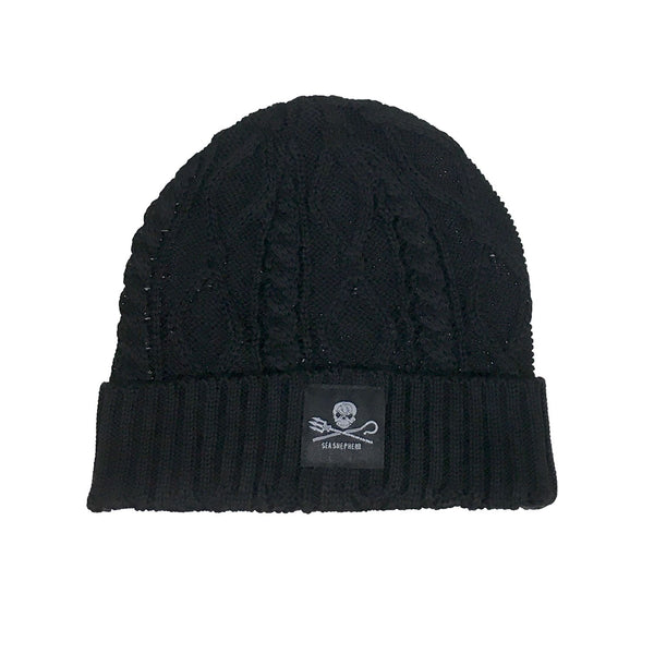 Jolly Roger Unisex Cable Knit Beanie
