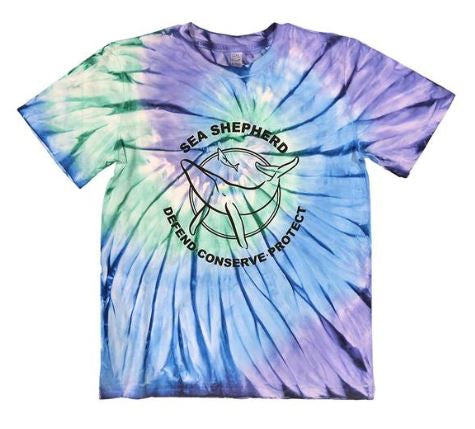 Sea Shepherd Classic Blue Tie Dye Tee Youth