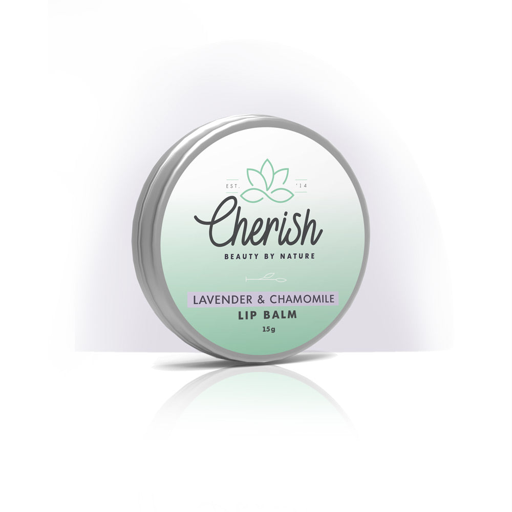 100% natural lip balm. Made with organic coconut oil, organic cocoa butter & organic Lavender & Roman Chamomile essential oil. Soothe and hydrate chapped lips.