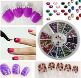 350BUY Rhinestones 2400-pc 12 Color Nail Art Nailart Manicure Wheels