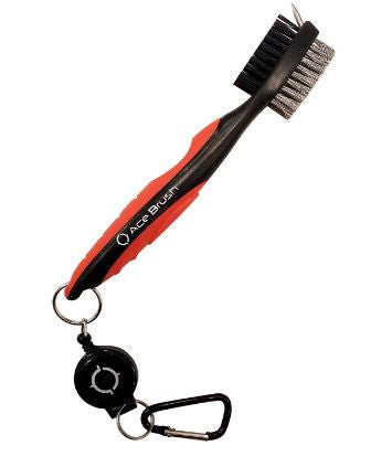 Ace 2-FT Golf Brush Club Groove Cleaner Retractable
