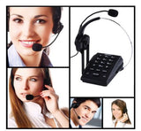 Agptek HA0071 Handsfree Call Center Dialpad Corded Headset Telephone