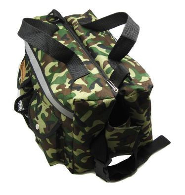 Alfie PET Hudson Dog Pet Carrier Travel Backpack Bag Camouflage