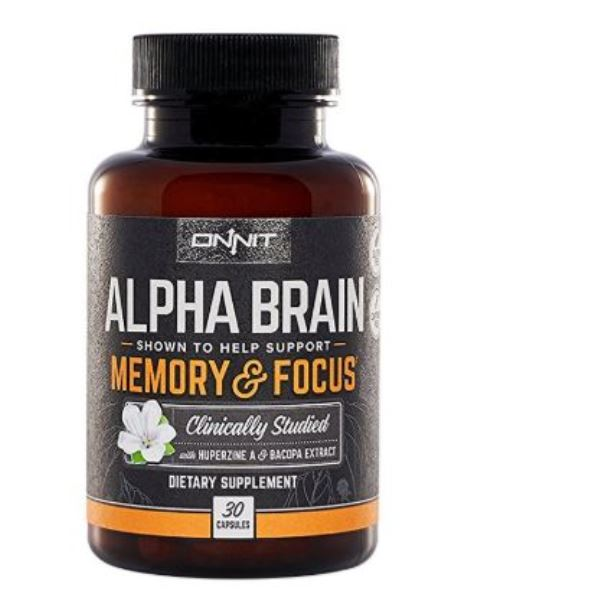 Alpha Brain By Onnit Labs, Advanced Brain Booster Nootropic 30 ct