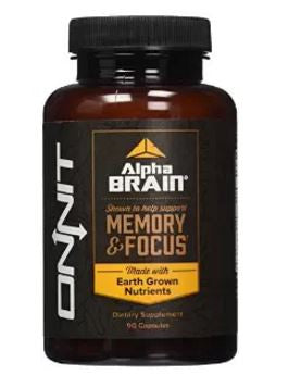 Alpha Brain By Onnit Labs, Advanced Brain Booster Nootropic 90 ct