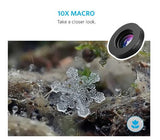 Anker Phone Camera Clip Lens Kit Fisheye Wide Angle 10x iPhone Galaxy