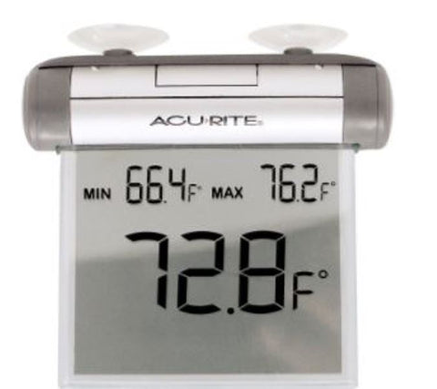 AcuRite 00603A1 Digital Indoor Outdoor Window Thermometer Suction Cup