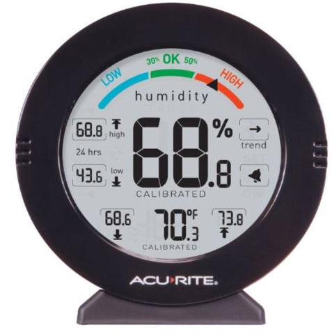 Acurite 01080M Pro Indoor Temperature Humidity Gauge Monitor with Alarms