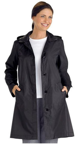 AmeriMark Women's Packable Raincoat Black Medium USA Made