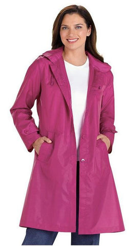 AmeriMark Women's Packable Raincoat Fuchsia Small USA Made