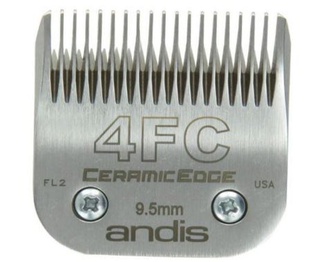 Andis 64295 CeramicEdge Size 4FC Detachable Pet Clipper Trimmer Shaver Razor Replacement Blade for Model AG BG MBG Oster 76 111 A-5